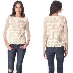 Tory Burch Charlotte Crochet Top size 8